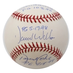 David Cone, Don Larsen, David Wells New York Yankees Triple Autographed MLB Baseball with All 3 Perfect Games Date Inscription (Steiner Hologram Only)