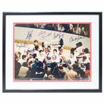 New York Islanders Multi Signed 11x14 Framed Photo ( Troittier, Bossy, Nystrom, Gillies, Smith and Potvin)