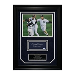 "Mariano Rivera New York Yankees Autographed and Framed 1999 World Series MVP Inscribed Chit Collage - 17""x23"" Frame (JSA Authenticated)"