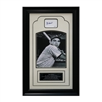 Yogi Berra New York Yankees Autographed and Framed Chit Collage (JSA Authenticated)