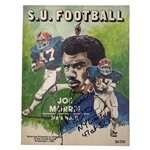 Joe Morris Autographed Syracuse University Football Pamphlet