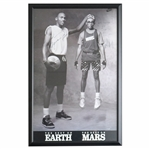 "Rare Michael Jordan and Spike Lee Dual Signed Original Vintage ""The Best On Earth and Mars"" Poster UDA Holo Only"