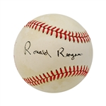 Ronald Reagan Autographed 1989 All-Star Game Baseball (John Hirschbeck LOA)