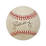 Roy Halladay Autographed Game Ready from Playoff No Hitter Game Baseball w/MLB Hologram (John Hirschbeck LOA)
