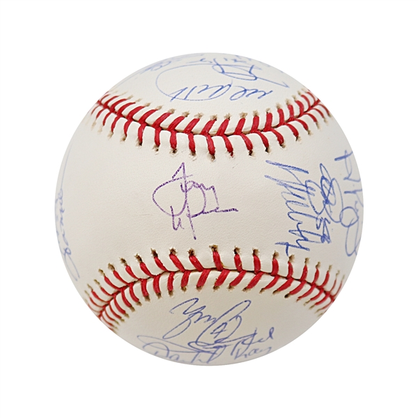 2006 St Louis Cardinals World Series Team Signed Baseball (Larussa, Pujols, Molina,) (John Hirschbeck LOA)