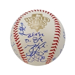 2010 San Francisco Giants World Series Team Signed Baseball (Posey, Cain, Sandoval, Huff, Bochy) (John Hirschbeck LOA)