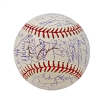 2004 Red Sox World Series Team Signed Baseball (Ramirez, Ortiz, Varitek, Arroyo, Wakefield, Schilling, Damon, Martinez) (John Hirschbeck LOA)
