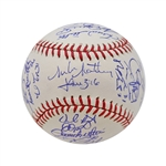 2013 St Louis Cardinals Team Signed World Series Baseball (Matheny, Beltran, Wainwright, Wong, Westbrook) (John Hirschbeck LOA)