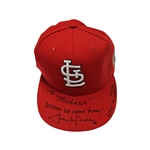 Tony LaRussa Autographed Game Used 2006 World Seeries Hat Personalized to Michael (John Hirschbeck LOA)