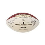 Qadry Ismail Autographed and Inscribed S.B. XXV Champion & Missile, and Dave Wilcox Autographed and Inscribed HOF 2000 Dual Signed Super Bowl XLVII Panel Football (JSA)