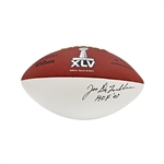 Joe DeLamielleure Autographed and Inscribed HOF 03 Super Bowl XLV Panel Football (JSA)