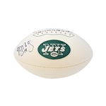 Greg McElroy Autographed New York Jets Panel Football (JSA)