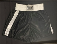 Muhammad Ali Autographed and Inscribed Cassius Clay Framed Shorts