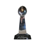 Joe Namath New York Jets Autographed 1969 Super Bowl III Vince Lombardi Replica Trophy