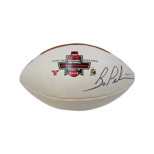 Bo Pelini Autographed National Championship Runners-Up Football (John Hirschbeck LOA)