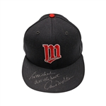 Paul Molitor Autographed Game Used Hat Personalized to Michael (John Hirschbeck LOA)