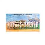 Detroit Tigers All-Time Team 31x16 Wooden Poster