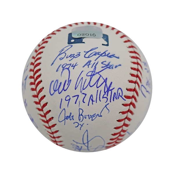 Baseball All-Stars 15 Signature MLB Baseball each Inscribed with # of AS Appearances - Hundley on Sweet Spot (JPs Auth)