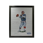 Jim Kelly Buffalo Bills Autographed New York Sportscene Collectors Series Framed Poster (JSA)