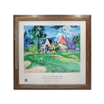 Leroy Neiman Autographed 79th PGA Championship Winged Foot Golf Club 26X25 Framed Poster