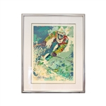 Leroy Neiman Autographed Olympic Skier Framed Lithograph (JSA Letter)