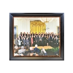 2009 Yankees at White House with President Obama, Derek Jeter Autograph
