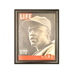 RARE - Jackie Robinson Framed  LIFE Magazine Cover dated May 8, 1950