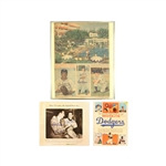 Brooklyn Dodgers Lot  - Newspaper Clipping/Pamphlet/Photograph Autographed by Snider and Branca/Thomson