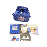 Lot of 5 NY Mets/Texas Rangers Magazines and 1995 MLB ASG Duffle Bag