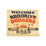Brooklyn Dodgers 1949 National League Champions Flag