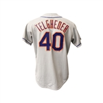 Lot  of 4 Mets Jerseys - 3 Game Used Telgheder, Bogar, and Person and Bobby Valentine Autographed Mets Jersey