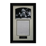 "Joe DiMaggio New York Yankees Handwritten and Framed 1992 Diary Page Collage - 17""x28"" Frame (JSA Authenticated)"