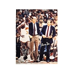 Jim Boeheim, Bernie Fine, Pearl Washington Triple-Signed 8x10 Photo LE 21/100 JSA