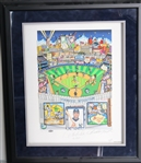"Derek Jeter New York Yankees Autographed and Inscribed ""ROY 96"" 24x28 Charles Fazzino Pop Art Limited Edition 1/22 (Steiner)"
