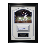 Hank Aaron Autographed and Framed 17x23 Chit Collage (JSA Hologram)