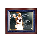 "Carmelo Anthony and Jim Boeheim Syracuse University Dual Signed and Inscribed ""03 Champs"" and ""Great Memories"" 16x20 Framed Photo"
