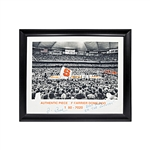 "Jim Boeheim Syracuse University Autographed and Inscribed ""Best Fans In The Country"" 20x24 Embellished Baksetball Photo Printed on a Piece of the Carrier Dome Roof Peeling on Lettering"
