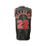 Jay Williams Autographed Black Chicago Bulls Jersey and Autographed 16x20 Canvas Print ((JSA)