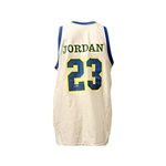 Michael Jordan Autographed Custom White Laney Jersey (UDA Holo Only SH034643)