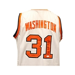 "Dwayne ""The Pearl"" Washington Autographed and Inscribed #31/""The Pearl"" Syracuse University Jersey LE 18/31 JSA"