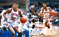 Lot of 12 Syracuse University 1990s Greats 8x10s and 16x20s (Moten, Wallace, Hopkins, Owens, Hart)