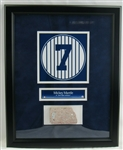 Mickey Mantle Monument Park Brick From Old Yankee Stadium 17x21 Display