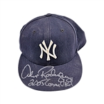 "Alex Rodriguez New York Yankees Autographed and Inscribed ""2005 Game Used"" Game Used Hat (Elite)"