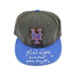 "David Wright New York Mets Autographed and Inscribed ""Game Used 2006 Playoffs"" Game Used 2006 Playoff Hat (Locker Room)"