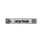 Jorge Posada New York Yankees Autographed 2003 All-Star Game Authentic Locker-room Nameplate