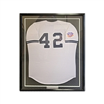 Mariano Rivera New York Yankees Game Used 1997 Jackie Robinson Framed Jersey (Steiner)