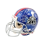 New York Giants Team Signed Super Bowl XLVI Champions Helmet Limited Edition 9/10 (Steiner)