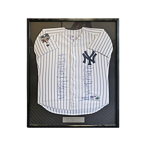 2000 New York Yankees Team Signed Framed World Series Jersey Limited Edition 171/200 (Steiner)
