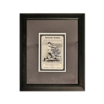 "Roger Maris New York Yankees Autographed and Personalized ""To Tom Good Luck Maris"" 13.5x16.5 Framed Distribution Company Card (PSA/DNA LOA)"