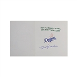 Tommy Lasorda Los Angeles Dodgers Autographed Holiday Card CX Auth
